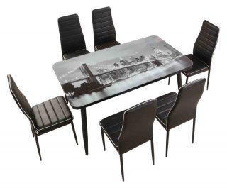 😍SET TAVOLO+6 SEDIE⠀ 📣SUBITO A CASA TUA⠀ 👉A SOLI 299€⠀ Set composto da tavolo e 6 sedie imbottite!⠀ Tavolo 140×80 cm con piano vetro con stampa New York + 6 sedie imbottite e rivestite in similpelle con bordo in contrasto.⠀ ⠀ 📌Trova il punto vendita più vicino a te https://buff.ly/3pOBRwg⠀ 🛒Visita il nostro shop https://buff.ly/3zbLcUZ⠀ 📍Contattaci su messanger⠀ 📧 Scrivici via mail a info@mobilandiaemilia.it⠀ 📱Aggiungici su whatsApp 3294444151⠀ ☎Chiamaci allo 0522703298