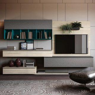 Soggiorno moderno componibile, personalizzabili in varie finiture e colori a scelta!